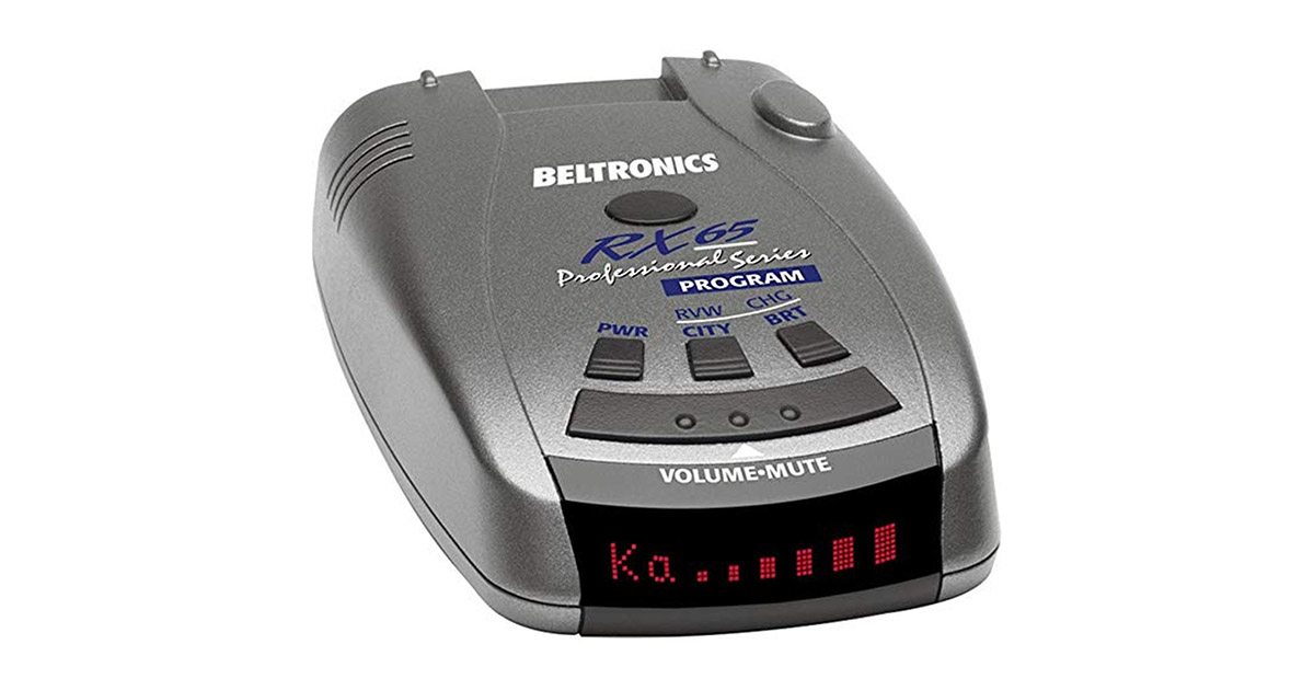 Beltronics RX65 Red Professional Series Radar Detector image