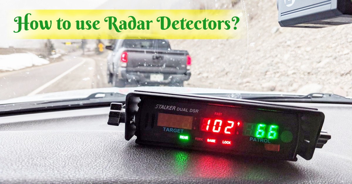 How to use Radar Detectors image